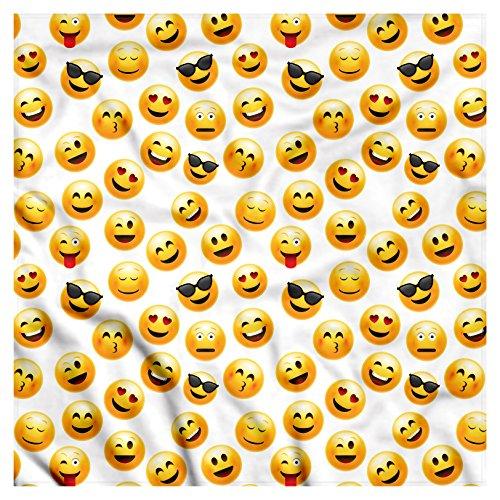 Ambesonne Unisex Bandana, Emoji Smiley Faces Feelings, Black Yellow