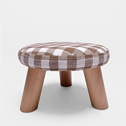 Amazon.com: XM Ottomans ZfgG Round Stool Wood Color Fashion ...