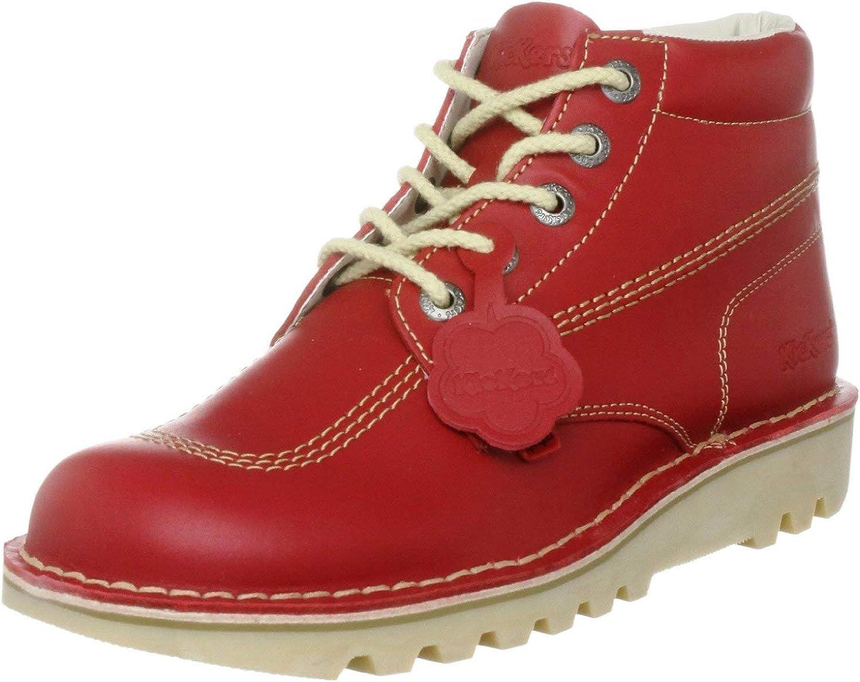 Kickers Kick Hi', Botines Mujer, Rojo (Red/Light Cream), 40 EU