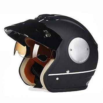 ZCXCC Cascos De Moto Cascos para Vehículos Eléctricos Moda Masculina Y Femenina Four Seasons Personality Retro