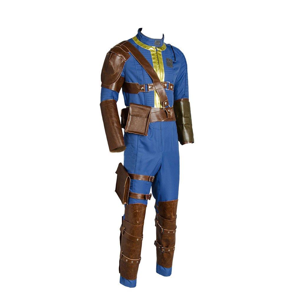 Hommes Nate Costume Deguisement Halloween Combinaison Jumpsuit Bleu Uniforme de Survivant Unique Ensemble Complet