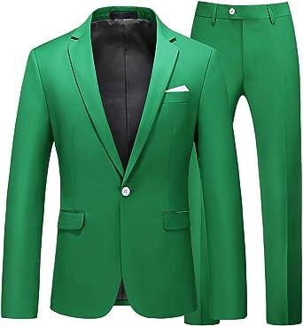 Korea Men Slim Fit Dress Formal Wedding Jacket One Button Lapel Pink Blazer Coat