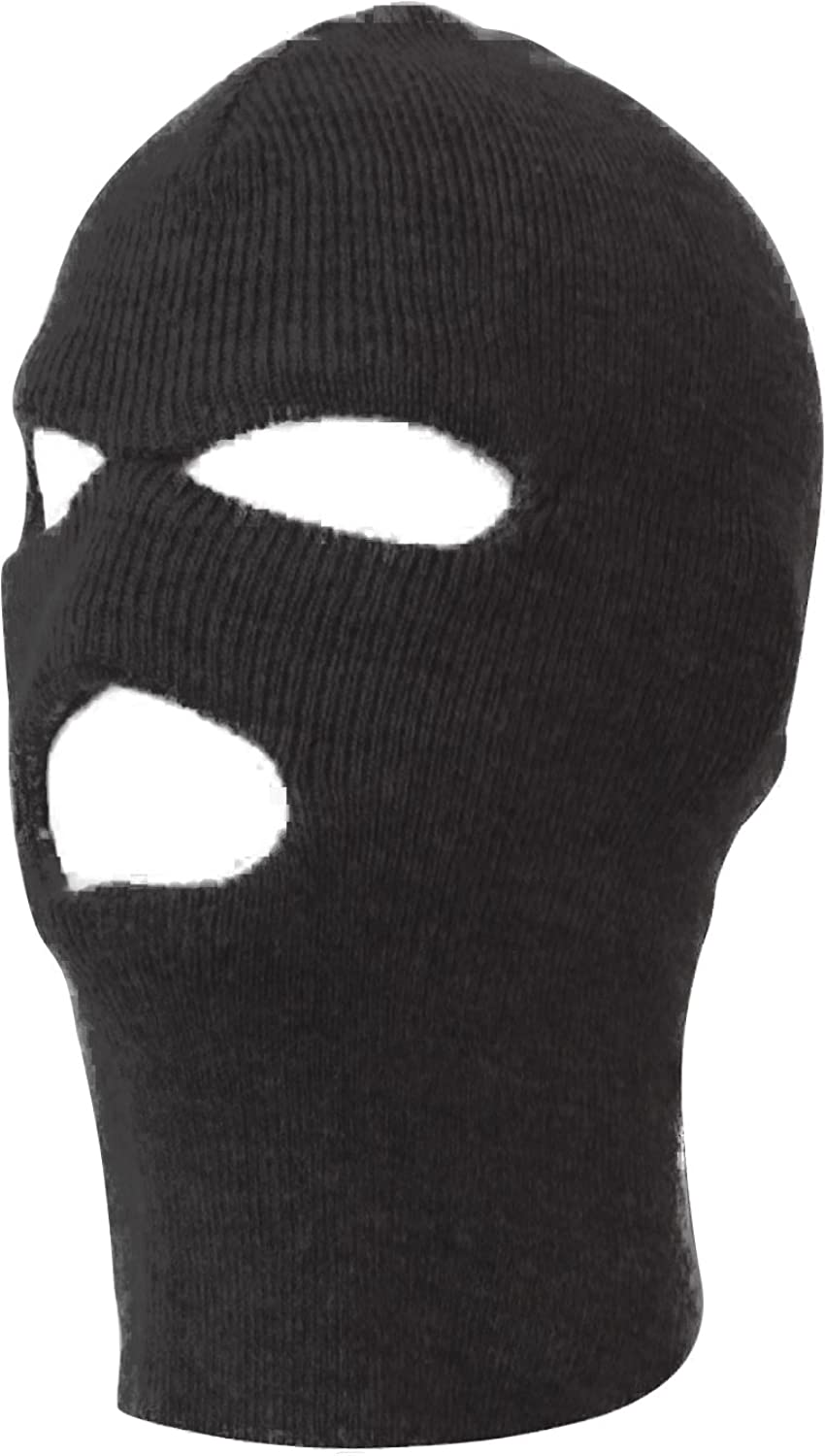 Winter Knit Ski Mask 3-Hole, 12 Pack Adults, Warm Outdoor Face Cover ...