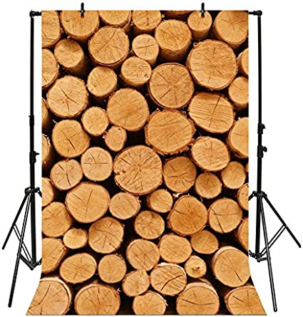10x6.5ft Firewood Backdrops for Photography Wood Stacked Texture Timber Stack Woodpile Backdrop for Photography Natural Scenery Photo Backdrop Winter Children Adults Portraits Photo Studio