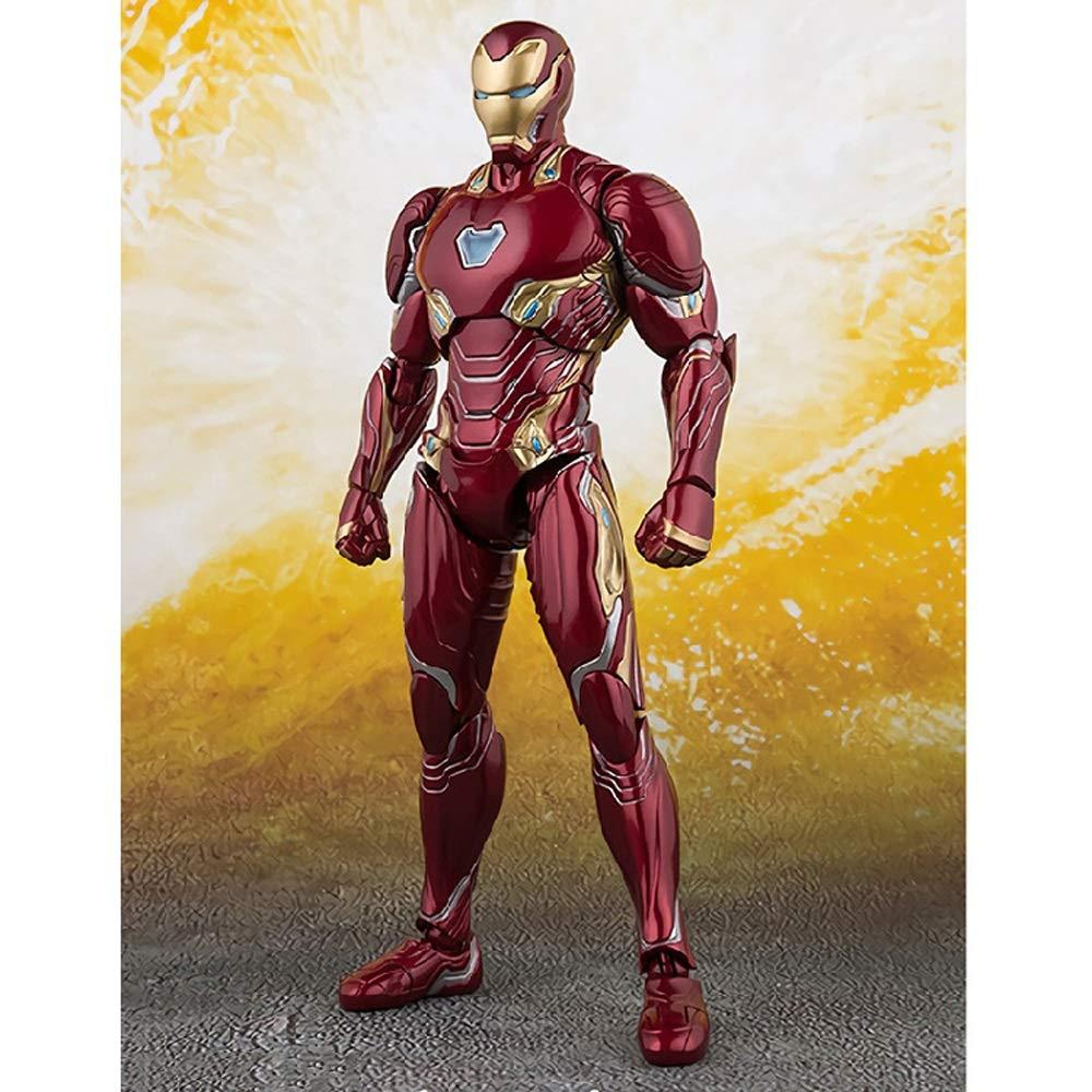 GFFTYX The Avengers 3 Unendlicher Krieg SHF Desperate Iron Man Mk50 Beweglich H/öhe 16cm Sammlungsmodell