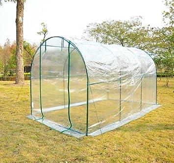 Homcom - Invernadero caseta acero plastico jardin terraza cultivo plantas (varias medidas), medidas 350x200x200: Amazon.es: Jardín