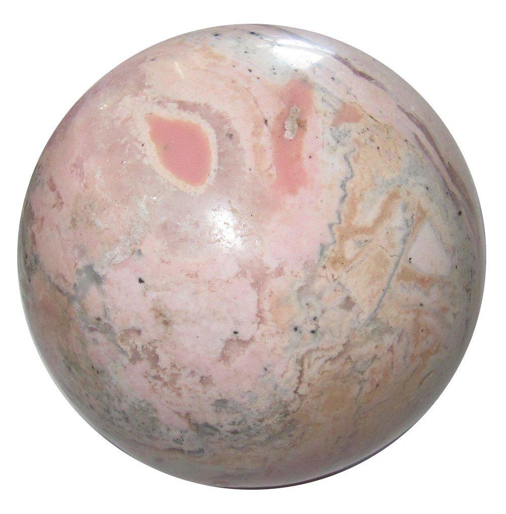Rhodochrosite Ball 30 Stunning Pink Tears of Joy Crystal Angelic Love Divinity Stone Sphere 2.6''
