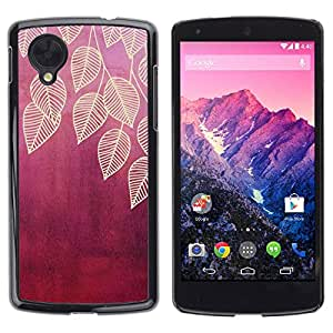 LASTONE PHONE CASE / Slim Protector Hard Shell Cover Case for LG Google Nexus 5 D820 D821 / Plum Maroon Red Nature
