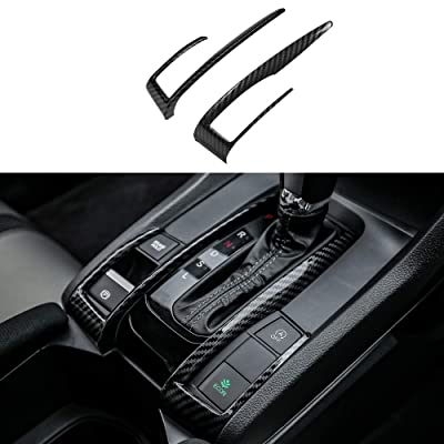 Thenice for 10th Gen Civic ABS Carbon Fiber Style Gear Box Trims Shift Transmission Decoration Stickers for Honda Civic 2020 2020 2020 2020 2016- Automatic Transmission: Automotive