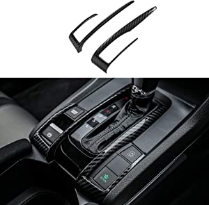 Thenice for 10th Gen Civic ABS Carbon Fiber Style Gear Box Trims Shift Transmission Decoration Stickers for Honda Civic 2020 2019 2018 2017 2016- Automatic Transmission