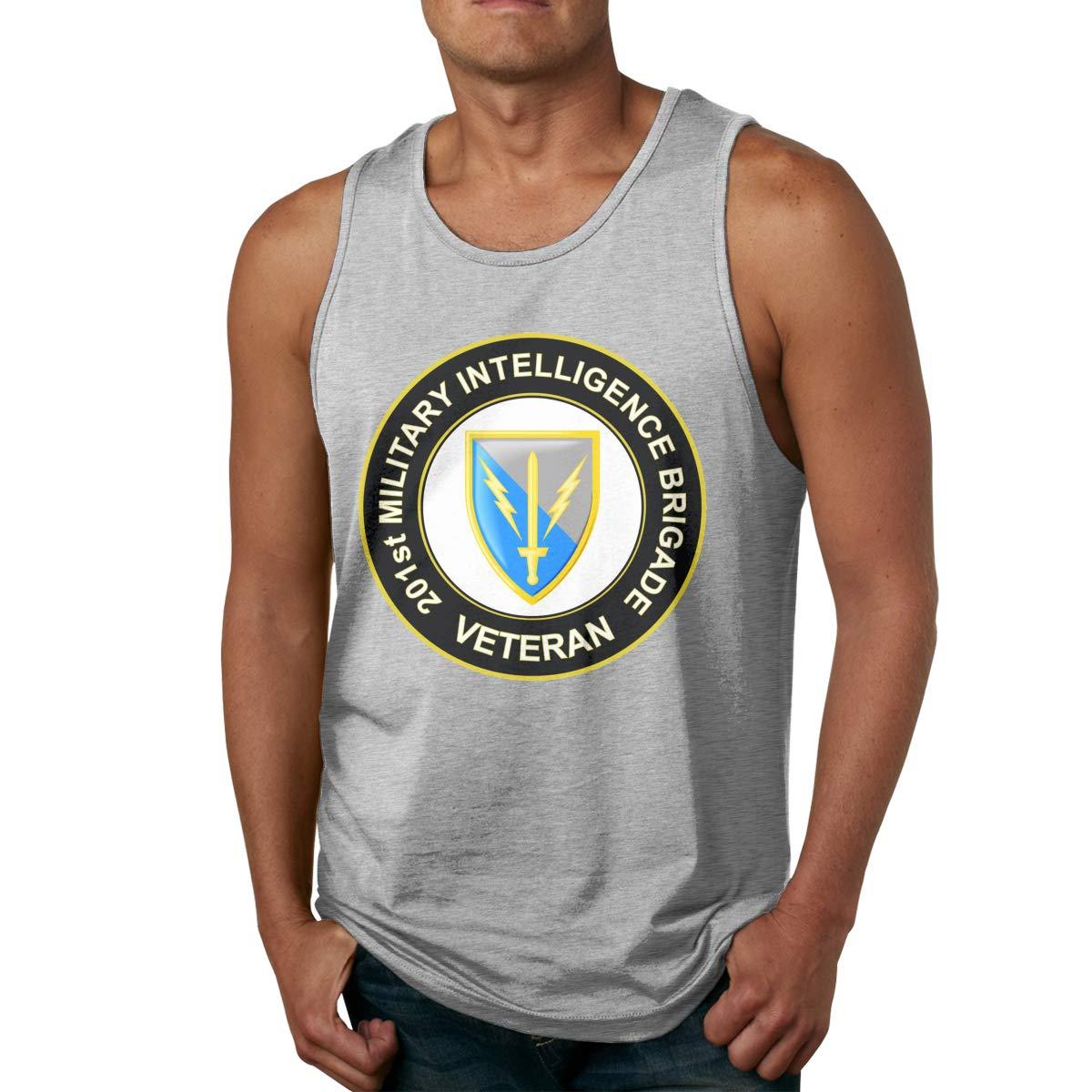 Bohoustore U.S Army 201st Military Intelligence Brigade Veteran Mens Undershirts Tank Tops
