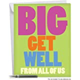 J3897GWG Jumbo Get Well Card: Big Get Well From Us With Envelope (Extra Large Version: 8.5'' x 11'')