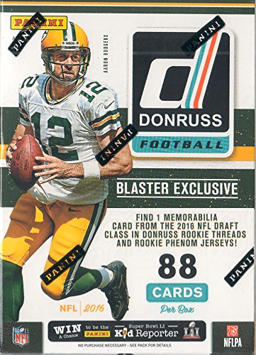 Jack Wilson Baseball - 2016 Donruss NFL Football Unopened Retail Box of Packs with One GUARANTEED Blaster EXCLUSIVE Rookie Threads or Rookie Phenom Jersey MEMORABILIA Card in Every Box plus Possible Autographs