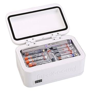 Refrigeradores Caja refrigerada de la insulina para el Coche portátil para la casa portátil de la Temperatura Constante de la Droga Accesorios para Coche: ...