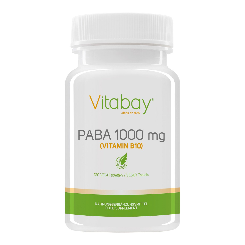PABA integratore naturale di vitamina B10 ottimo per avere una azione preventiva contro la crescita dei capelli bianchi.