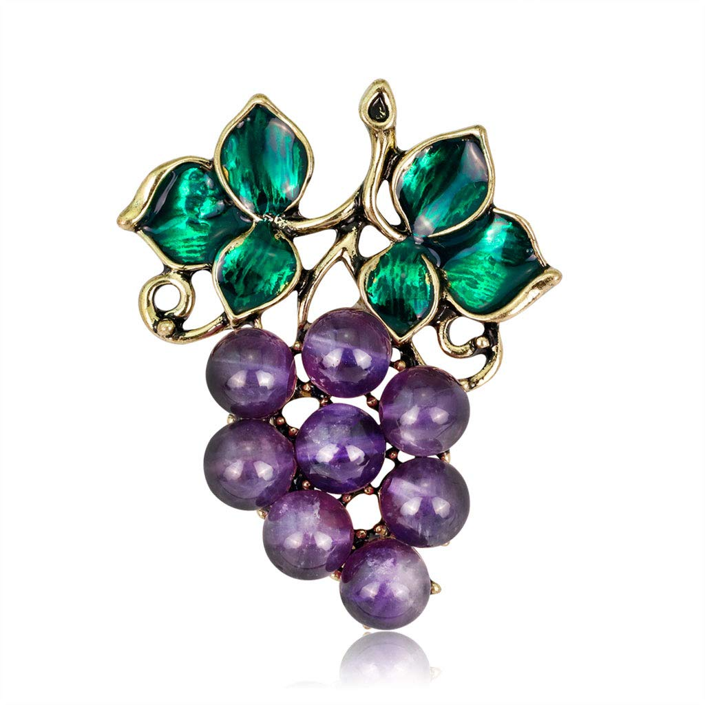 afbbc84841f LoXTong Grapes Brooch Fashion Clothing Women Decorative Creative Antique  Corsage Badge LMD