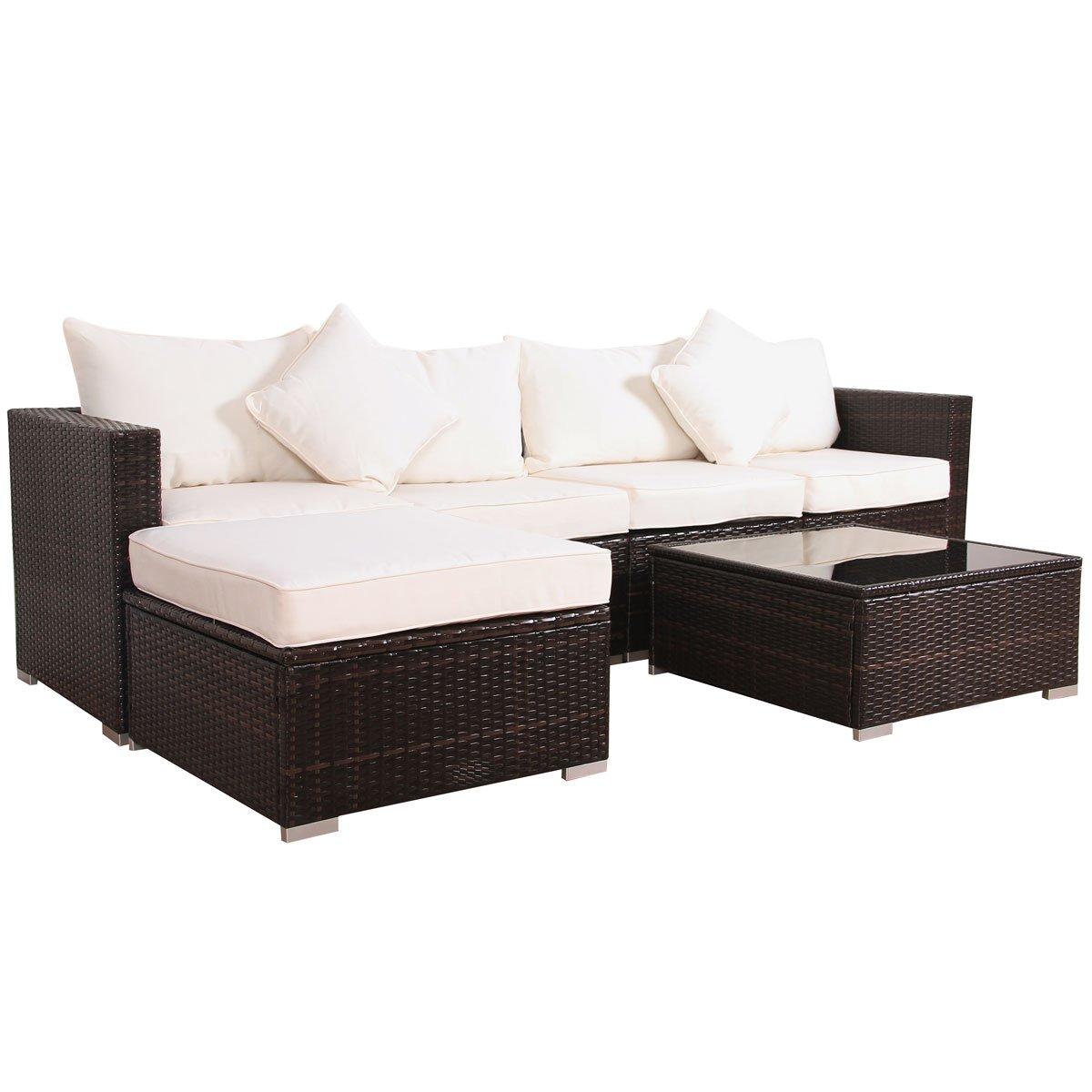 Amazon.de: Svita California-Plus POLY-RATTAN Lounge Gartenset Sofa ...