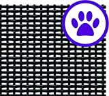 """ADFORS Premium Pet Screen, 48"""" x 84"""", Charcoal"""