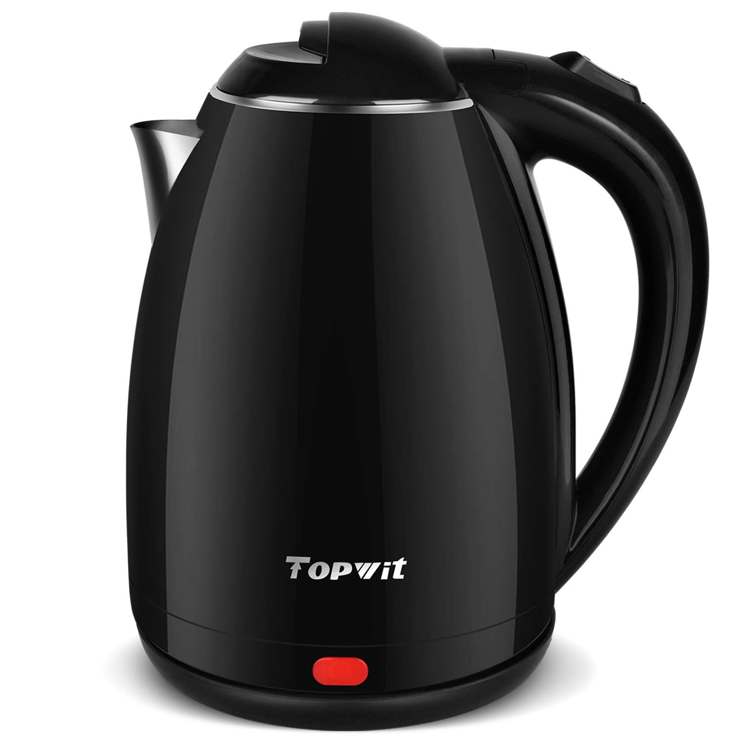 Topwit Electric Kettle Stainless Steel Interior Cordless, Electric Tea Kettle with Auto Shut-Off and Boil Dry Protection, 2 liter