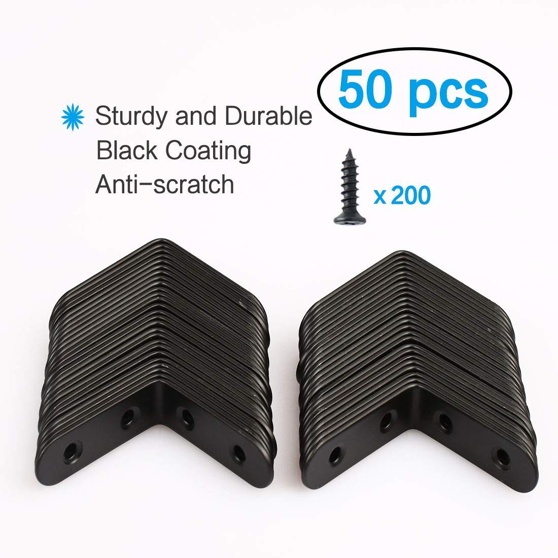 Amazon.com: ZCHXD 50pcs Angle Bracket Stainless Steel ...