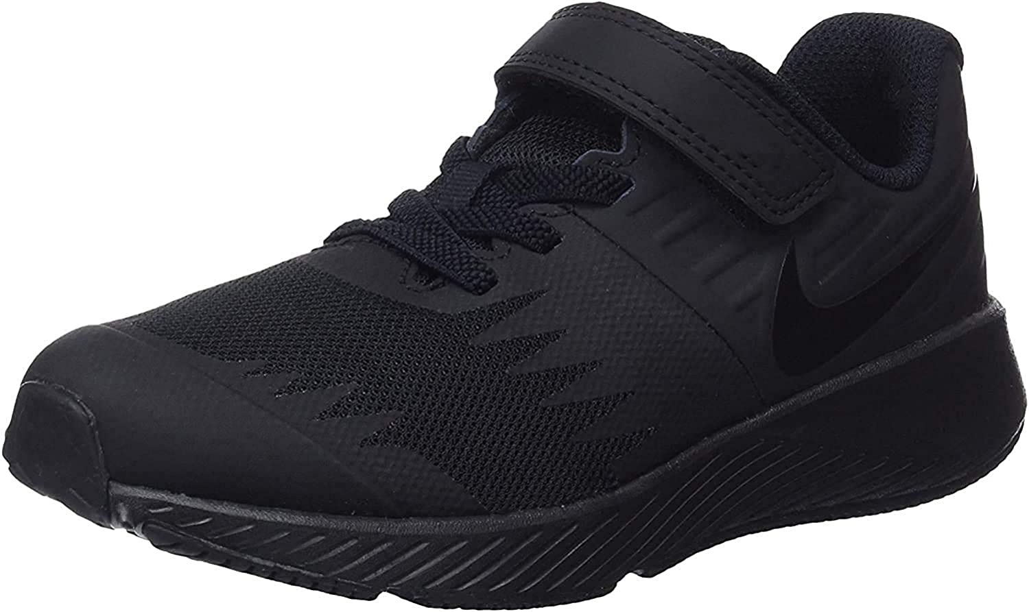 Black//Black Sneakers Nike 921443-005: Big Kids Star Runner 12 M Little Kid PSV
