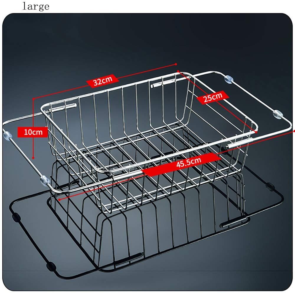 Stainless steel Housewares Under Shelf Storage Basket, kitchen shelf storage,39~45.5 cm (Size : B) by Guoqing (Image #2)