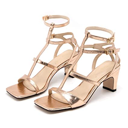 cf360c613f7db Amazon.com: Kyle Walsh Pa Women Pumps Gold Silver Sandals Open Toe ...