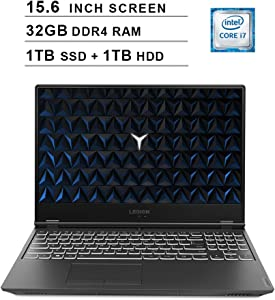 Lenovo 2020 Legion Y540 15.6 Inch FHD IPS Gaming Laptop (9th Gen Intel 6-Core i7-9750H up to 4.5 GHz, 32GB RAM, 1TB PCIe SSD + 1TB HDD, Nvidia GeForce GTX 1660 Ti, Bluetooth, WiFi, HDMI, Windows 10)