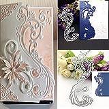 Arts & Crafts : Bluelans Cutting Dies Stencil Metal Mould Template for DIY Scrapbook Album Paper Card Making (Lace Flower Cutting Dies)