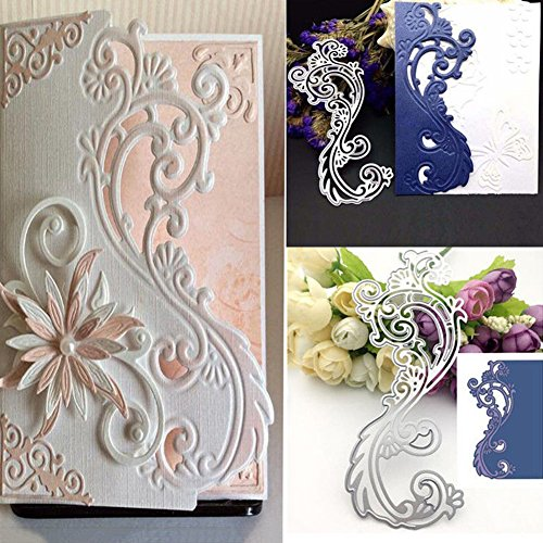 Bluelans Cutting Dies Stencil Metal Mould Template for DIY Scrapbook Album Paper Card Making (Lace Flower Cutting Dies) ()