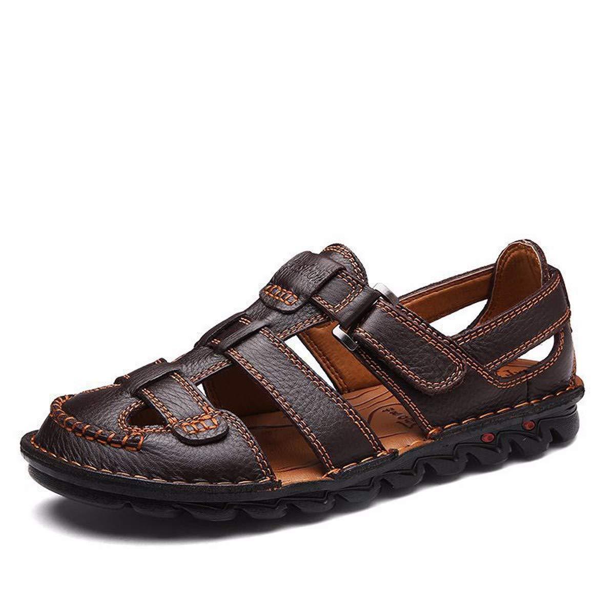 KMJBS-L'été Les Sandales Les Chaussures De Plage Baotou Moyen Et De Vieillesse noir Quarante - Huit  -