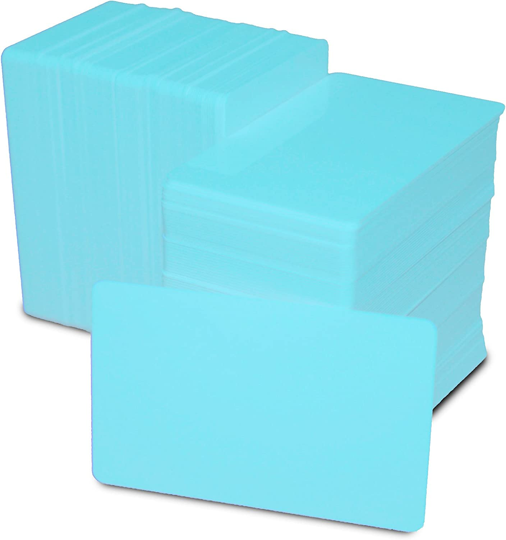Blank Hospital Blue PVC Plastic ID Cards x 50 ACB Ltd