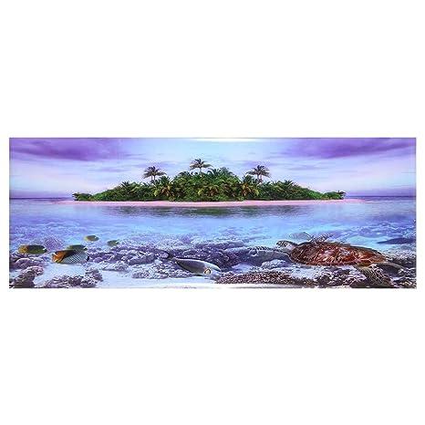 Naroote Fondo del Acuario, Cartel Adhesivo de la Playa del ...