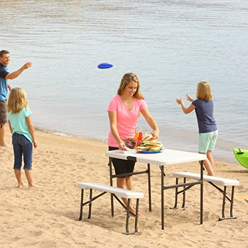 Lifetime 80373 Portable Folding Camping Rv Picnic Table
