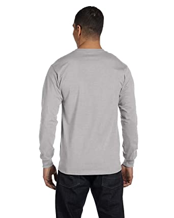 5bab9c9a7c2 Image Unavailable. Image not available for. Color: Hanes Men's 4 Pack Long  Sleeve T-Shirt ...