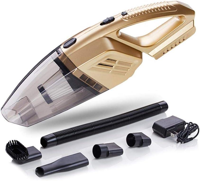RUIXIANG Aspiradores inalámbricos para automóviles Aspiradores portátiles Aspiradores con iluminación LED Aspiradores inalámbricos para automóviles/automóviles Gold