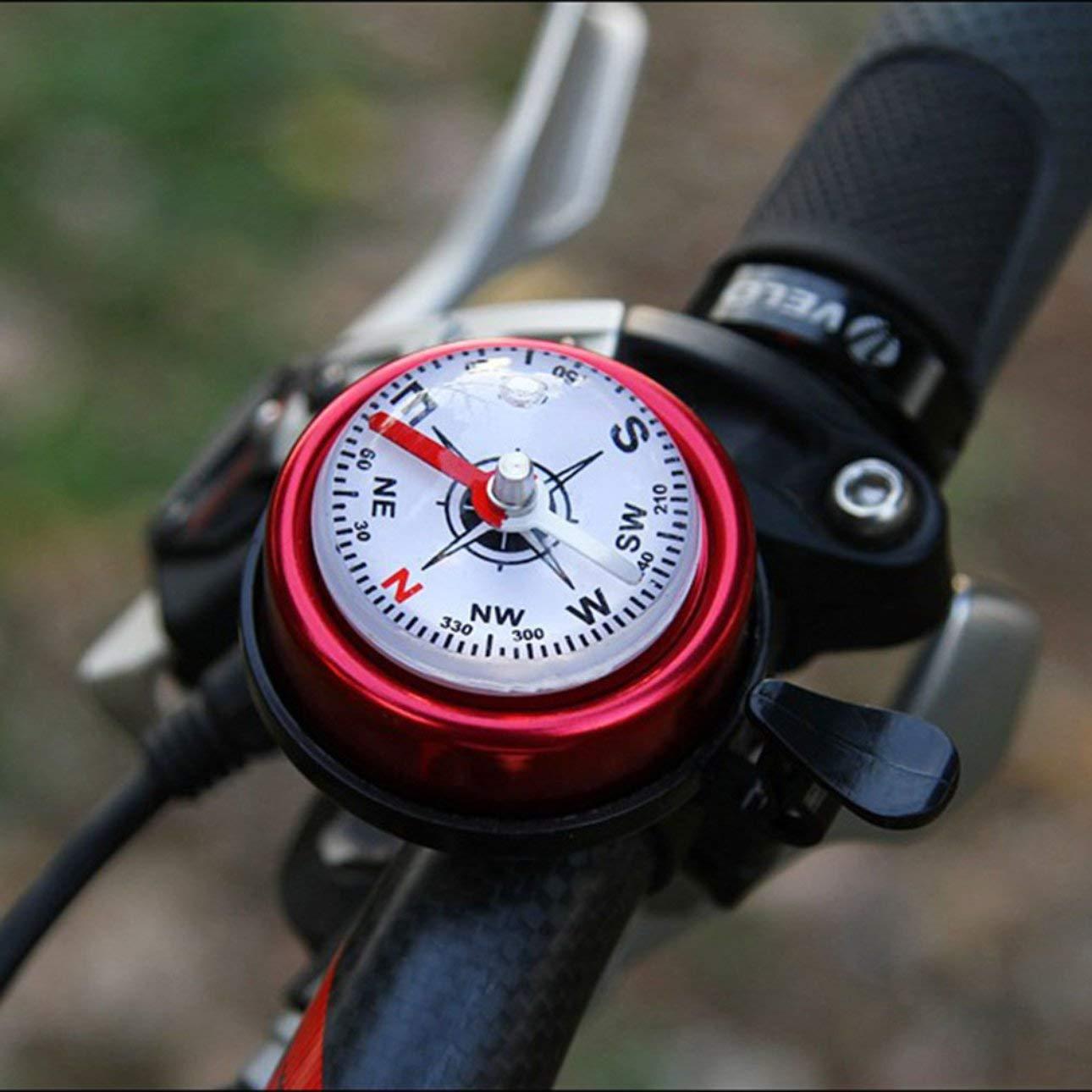 Pudincoco Bicicleta de Monta/ña Aleaci/ón de Aluminio Bicicleta Ciclismo Campana Bocina Roja Bicicletas Accesorios Bicicleta Manillar Gu/ía Campana