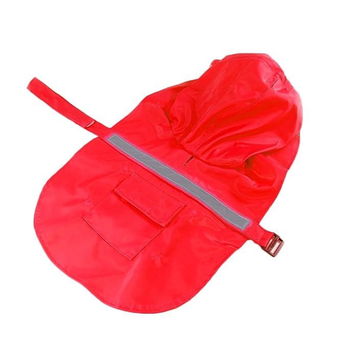 befaith perro lluvia abrigo mascota cachorro chaqueta al aire libre ropa impermeable gabardina con capucha XS Amarillo: Amazon.es: Productos para mascotas