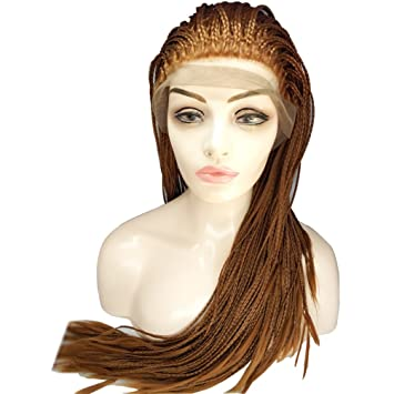 Amazon Com Braided Lace Front Wigs For Africa Black Women Fully