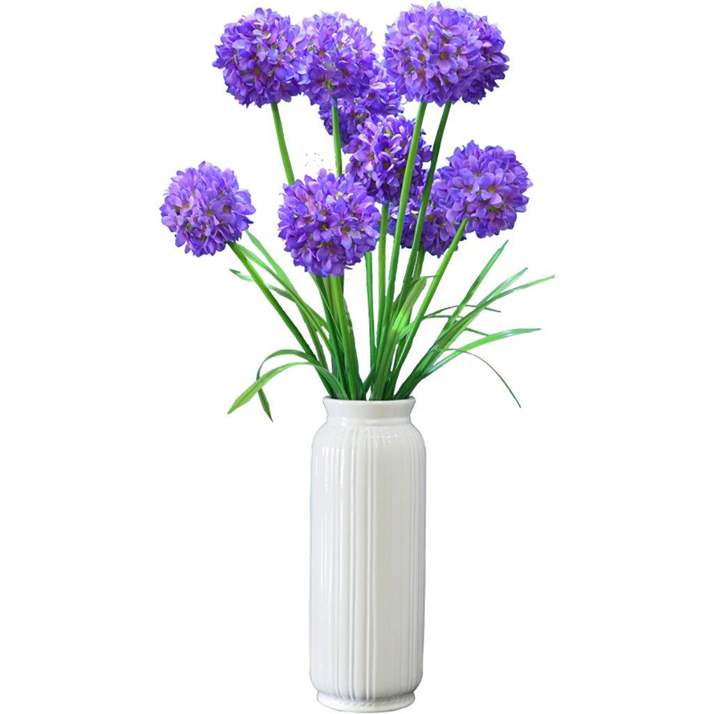 GWM 人工花、偽リアルタッチの花シルクプラスチック、アジサイ、ホームガーデンパーティーウェディングデコレーション、パープル B07FQ3K538