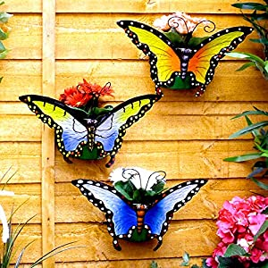 Great Ideas Butterfly Wall Planters - Set of 3