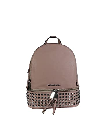 2ebca0d26fe0 Amazon.com: Michael Kors Rhea Small Studded Leather Backpack Ballet: Shoes