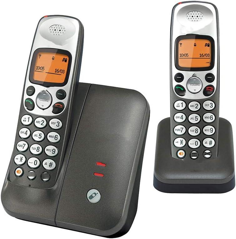 Teléfono inalámbrico digital, maestro-esclavo (uno por uno), los esclavos se pueden expandir, teléfono fijo, llamadas manos libres, llamadas independientes de doble uso, llamadas con un solo botón: Amazon.es: Hogar