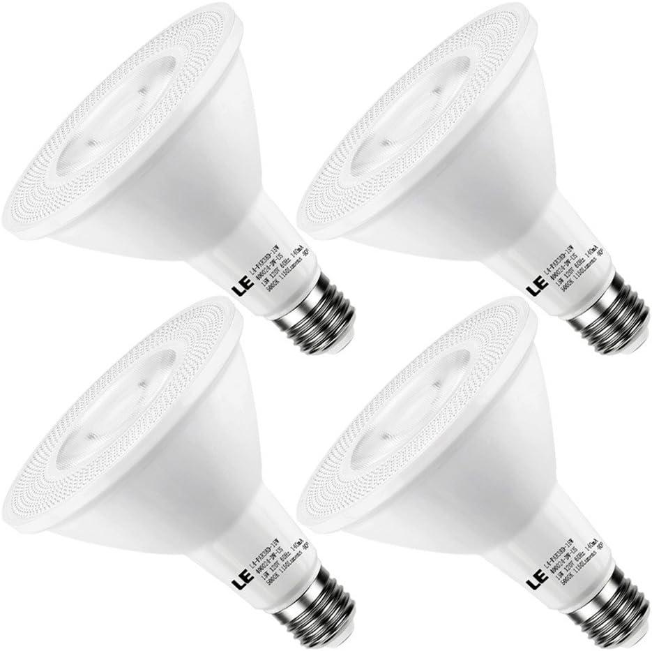 White 85W Equivalent Aolyty 45w PAR38 LED Bulb White 6000K 3500lm E26 Base 35 Degree Beam Angle Track Spotlight with Fan AC 120v