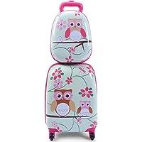 Costway ABS Kids Luggage Set 12'' Backpack 16'' Suitcase Children Boys Girls Travel School Trolley Case