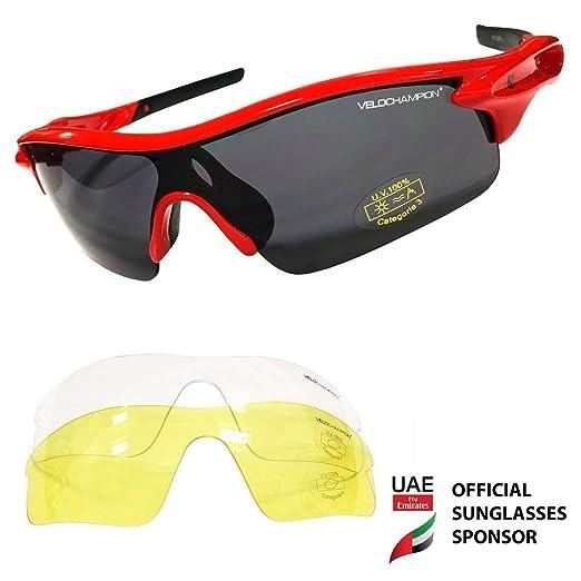 33 opinioni per VeloChampion Warp Cycling Running Sports Sunglasses- (with 3 lens: inc smoked,