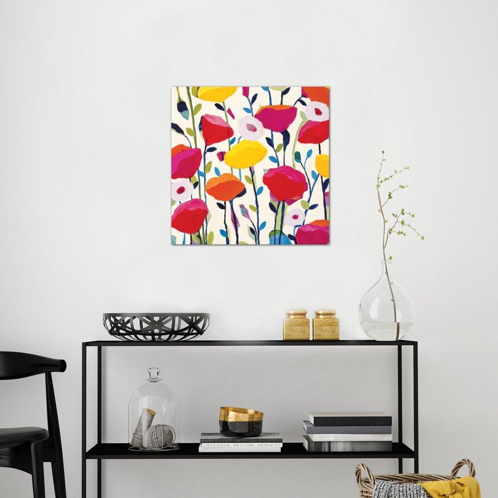 iCanvasART Bursting Poppies Canvas Print by Carrie Schmitt 37 x 37