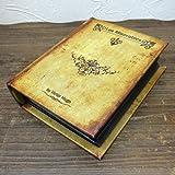 アンティーク風 シークレットアルバム ボックス ファイル 100ページ  「Les Miserables」 洋書型 小物入れ 収納 金庫
