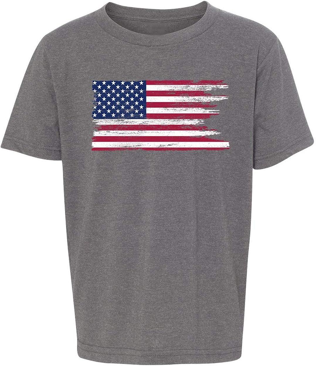 Patriotic Shirts Graphic T-Shirts for Kids Mato /& Hash American Flag T-Shirt