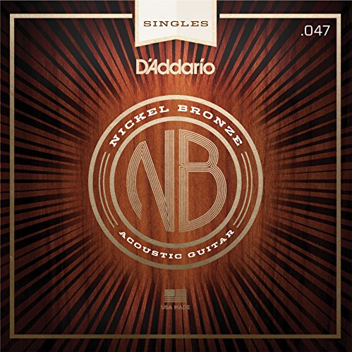 D'Addario NB047 Nickel Bronze Wound Acoustic Guitar Single String ()